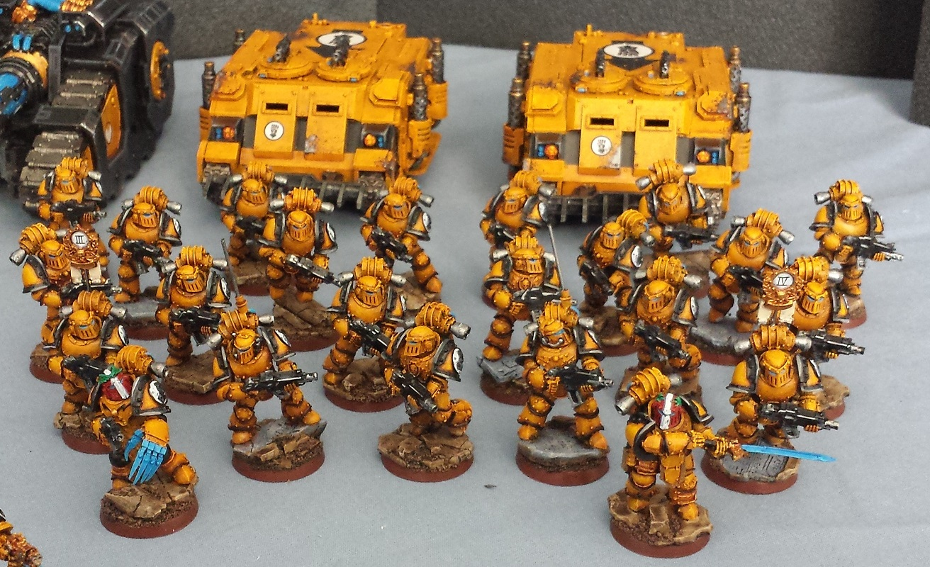 Warhammer 40k 30k forge world horus heresy imperial fists army painted ebay - Imperial fists 40k ...